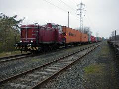 Kurzfristig bereitgestellte Traktionsleistung für Containertransport in den Braunschweiger Hafen